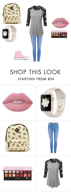 """""""The Casual Awesomeness!!"""" by benjiedaisy on Polyvore featuring Lime Crime, Paige Denim, Anastasia Beverly Hills, LE3NO, Converse, awesomeness and 2016"""