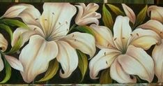 Painting Flowers, Decoupage, Paintings, Abstract, Lily Painting, Nice Flower, Canvas Artwork, Artwork Ideas, Drop Cloths