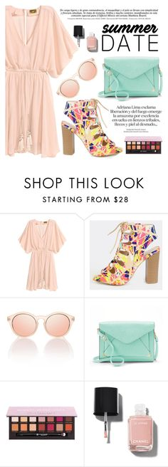 """""""Summer Date: The Drive-In"""" by fattie-zara ❤ liked on Polyvore featuring Apt. 9, Anastasia Beverly Hills, Chanel, DateNight, drivein and summerdate"""