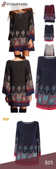 Tunic dress. NWOT. Xl but runs like large. Great with leggings jeans or boots. Simplify your life and look boho chic. Tops Tunics
