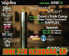 Hey vape fam !! Join us for a great event June 15th @vaporsglendora Hope to see you all there.  ____________________________  Hundredths Vape Juice  hundredthsvape@gmail.com http://ift.tt/20HerW8  #hundredths #hundredthsvapejuice #vapehundredths #vape #vaper #babycakes #sugarlips #sweetcheeks #vapes #vapelife #vapeporn #vapenation #vapecommunity #vapefam #vapeon #vapestagram #instavape #vapedaily #vapenation #vapelove #vapeshops #ejuice #eliquid #ecig #notblowingsmoke #vapeporn #vapepics…