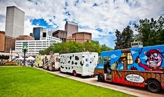 If you want to see a parade of the finest food trucks, head to Civic Center Park in Denver on Tuesdays and Thursdays this summer. Everything from pulled pork to tacos to biscuits and ice cream. It's all on wheels!