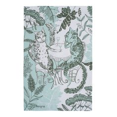 Cats in the Garden Print – Lush Designs Dining Ware, Dining Room, Paper Texture, Tea Towels, Lush, Tea Party, Cat Lovers, Digital Prints, Cats