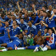 Chelsea won the UEFA Champions League for the first time! Repin if this is your favorite #soccer moment of 2012!