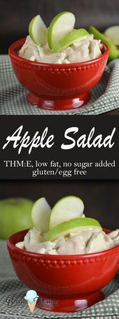 apple salad thm e low fat no sugar added gluten