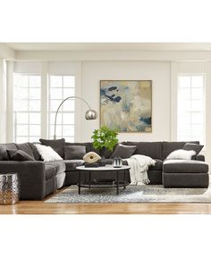Radley 5-Piece Fabric Chaise Sectional Sofa: Custom Colors - Sectional Sofas - Furniture - Macy's