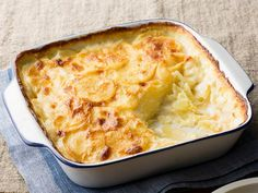 Scalloped Potatoes : Scalloped potatoes with butter and half-and-half are a tried-and-true comfort food combination. Food Network Kitchen tucks an element of surprise into this recipe — a pinch of nutmeg — for a hint of sweet spice. via Food Network Best Scalloped Potatoes, Scalloped Potato Recipes, Scallop Potatoes, Food Network Recipes, Cooking Recipes, Cooking Network, Gourmet Recipes, Sauce Creme, Pasta