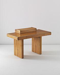 Afra and Tobia Scarpa; Walnut-Veneered Wood and Metal 'Torcello' Desk for Stildomus, c1979.