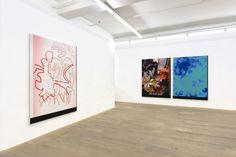 Vue de l'exposition de Travess Smalley à la Galerie Foxy Production