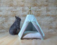 Rabbit bed Kitten teepee with pillow star by HipTepeeHooray