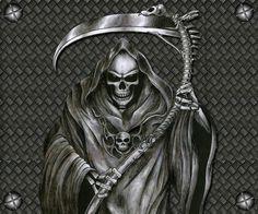 -The_Grim_Reaper_Tattoo_by_DemonChil.jpg the grimm reaper Death Reaper, Grim Reaper Art, Grim Reaper Tattoo, Don't Fear The Reaper, Skull Sleeve Tattoos, Body Art Tattoos, Tatoos, Skull Tattoo Design, Tattoo Designs