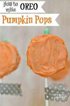 OREO Pumpkin Pops....