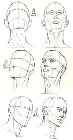 Pencil Art Drawings, Drawing Sketches, Sketch Art, Drawing Drawing, Sketching, Sketch Head, Male Drawing, Eye Drawings, Neck Drawing
