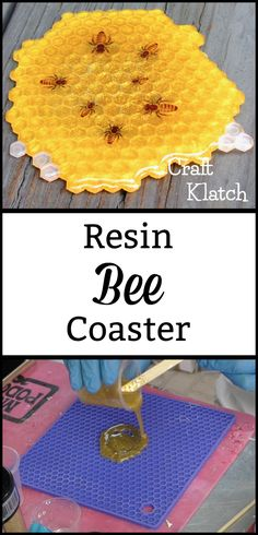 Learn how to make a honeycomb resin coaster with this craft tutorial! crafts to sell Bee Honeycomb Resin Coaster Diy Resin Art, Diy Resin Crafts, Bee Crafts, Crafts To Sell, Arts And Crafts, Epoxy Resin Art, Diy Epoxy, Angel Crafts, Fun Craft