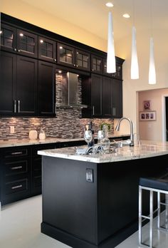 Espresso Cabinets By KabCo Kitchens #kabcoexperience