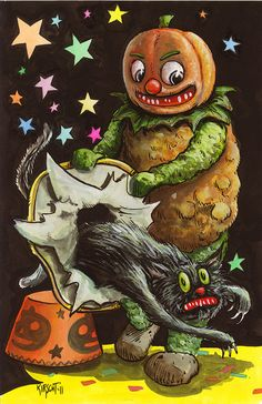 Trixie's Treats: 31 Days of Halloween: Matthew Kirscht Vintage Halloween Images, Retro Halloween, 31 Days Of Halloween, Halloween Prints, Halloween Pictures, Halloween Horror, Spooky Halloween, Holidays Halloween, Halloween Decorations