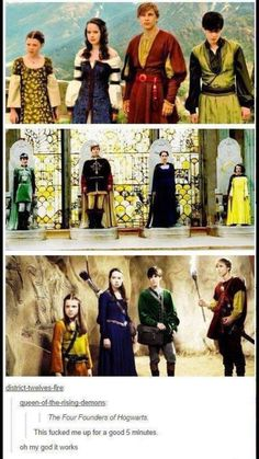 The four founders of Hogworts