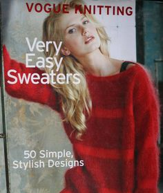 Knitting Patterns Very Easy Sweaters Vogue Knitting Hardcover Cardigans Women Paper Original NOT a PDF by elanknits on Etsy