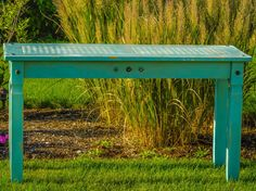 Vintage Hand Painted Farmers Table by SandtoCityStyle on Etsy