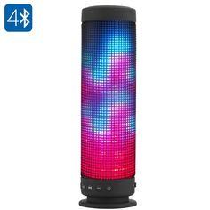 10 Watt Portable Bluetooth 4.0 Speaker - 360 Degree Sound 88 LEDs 5 Lighting Functions Hands Free Micro SD Slot 2300mAh