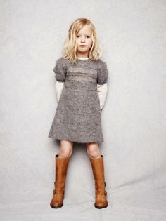 boots and sweater even for little girls!