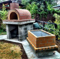The Castillo Family Wood-Fired DIY Brick Pizza Oven and La Caja Style Roasting Box in Washington by BrickWood Ovens