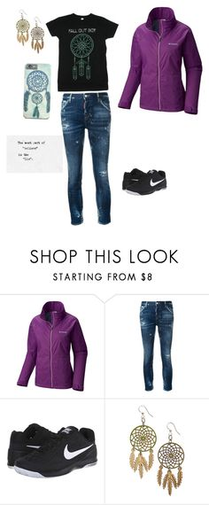 """Shannon..."" by gamerskitchenofficial on Polyvore featuring Columbia Sportswear, Dsquared2, NIKE, cute and band"