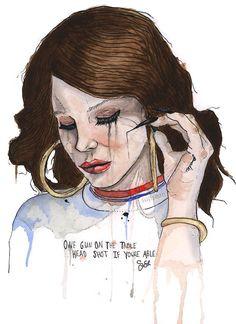 ♥ Lana Del Rey ♥ Fan Art / Art Work ♥ #Lana_Del_Rey #LDR #LanaDelRey