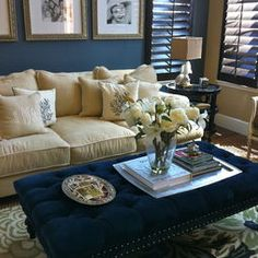 Traditional Family Room Design, Pictures, Remodel, Decor and Ideas - couch color