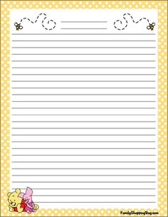 Stationery, Winnie The Pooh, Stationery - Free Printable Ideas from Family Shoppingbag.com