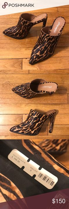 Jeffrey Campbell Cheetah Mules Size 8 — for more like a 7.5.  Brand new. Never worn. Does not come with box. 💫💫💫 ALL offers considered. 💎 Jeffrey Campbell Shoes Heels