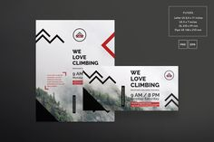 Flyers | Mountain - Amber Graphics. Flyer design (flyer template) for mountain climbing, alpinism, mountaineering.