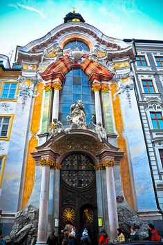 "Johann Nepomuk Church, better Known in the German Language as ""Asamkirche,"" is a Church in Munich, Germany. Architecture Baroque, Amazing Architecture, Oh The Places You'll Go, Places To Travel, Places To Visit, Munich Germany, Bavaria Germany, Cathedral Church, Chapelle"