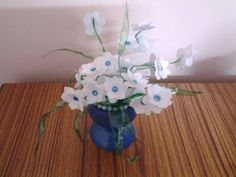 Best Out of Waste Plastic Transformed to Elegant White Flowers Showpiece
