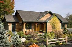 cute plan for a small retirement house Love the front door!