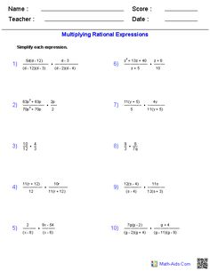 math worksheet : rational numbers algebra 2 and worksheets on pinterest : Addition Of Algebraic Expressions Worksheets