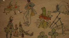 Plus de 100 planches originales tirées des albums et de magnifiques aquarelles constituent un parcourt fascinant dans l'imaginaire d'Hugo Pratt. Ici, une aquarelle réalisée pour l'album Les Celtiques.