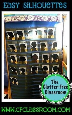 Student silhouettes - light and shadow unit Classroom Crafts, Future Classroom, Classroom Themes, Classroom Organization, Art School, School Ideas, School Stuff, Sunday School, School Fun