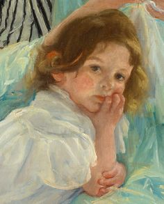 """Young Mother Sewing""  detail  Mary Cassatt"