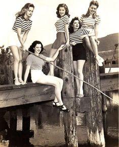 Striped Shirts & Shorts -1940's