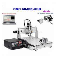 1833.00$  Watch now - http://alivmj.worldwells.pw/go.php?t=32621631449 - 1pcs 4axis CNC Router 6040Z-USB Mach3 auto engraving machine with 1.5KW VFD spindle and USB port for hard metal
