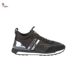 Hogan Femme Hxw2610t3509st0564 Noir Toile Baskets - Chaussures hogan (*Partner-Link)