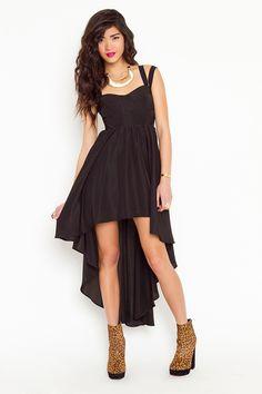 Say You Will Dress: asymmetrical hi-low black dress