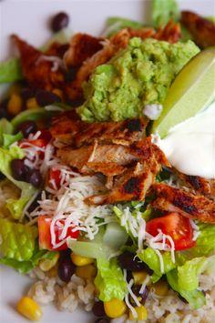 Homemade Burrito Bowls | A Homemade Living