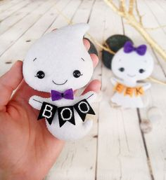 Ghost Halloween Decorations Felt Toy Halloween Gift by BelkaUA