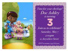 Doc McStuffins Birthday Customized Invitations by MyFashionLove, $5.00