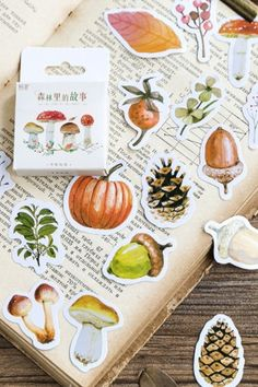 This is super cute paper sticker set.- Material: paper- 45 stickers as a set - size: approx. 4cm x 4… Korean Stickers, Kawaii Stickers, Sticker Paper, Super Cute