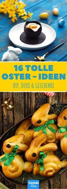 Rezepte, die für Ostern keine Wünsche offen lassen! #rezept #rezepte #deko #diy #eier #hasen #färben #ostern #osternest #basteln
