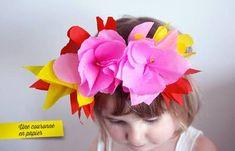 DIY : une couronne de fleurs en papier crépon | La cabane à idées