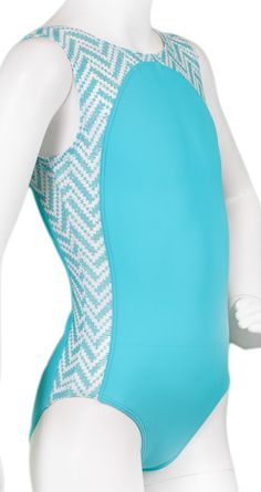 Turquoise Chevron Bridge Leotard (Alternate View) P.S. Mama this is on my wish list
